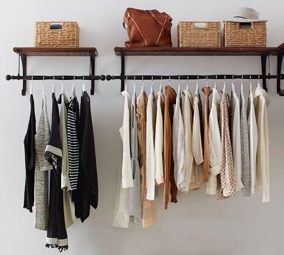 New York Closet Clothing Rod Amp Shelf Closet Shelves Home Shelves