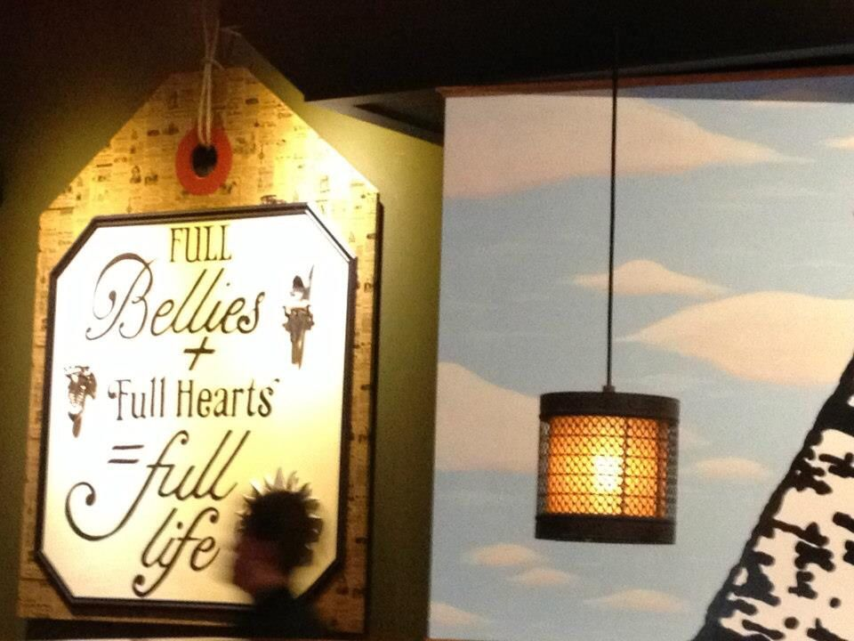 Full Bellies Hang Tag Wall Mural With Clouds And Sky