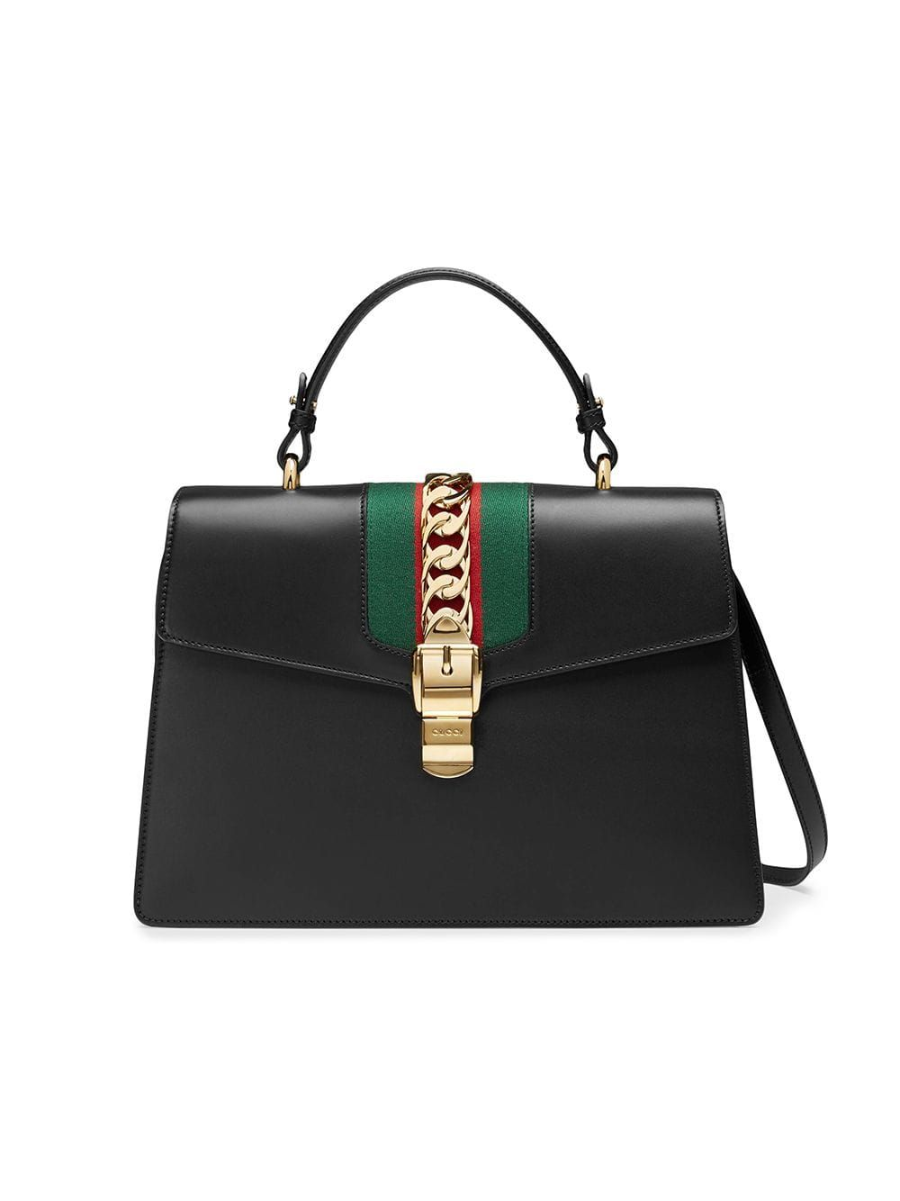 d0a8f27538d5c1 Gucci Sylvie leather top handle bag - Black in 2019 | Products ...