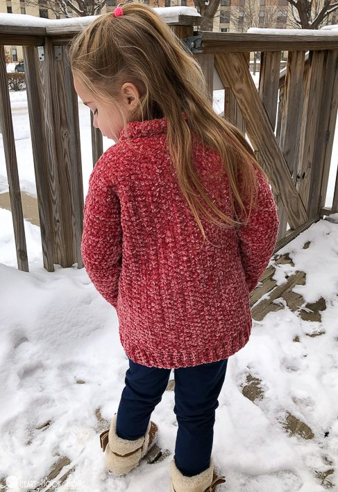 Velvet Cardigan: Free Crochet Pattern for Big Kids