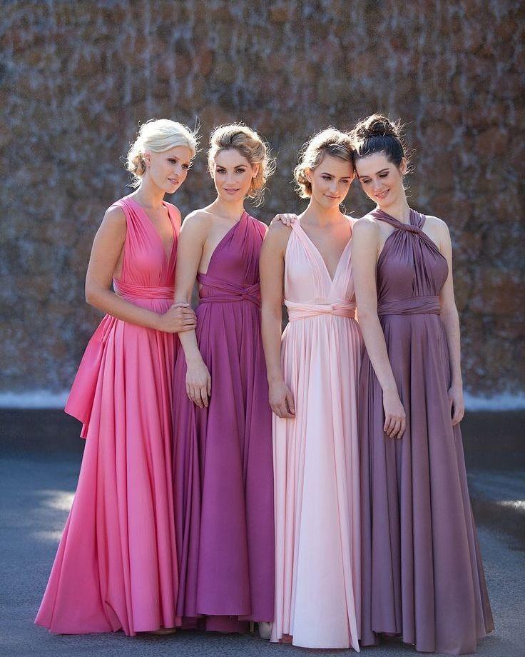 Que estilo mais lindo pra vestido de madrinha! Todas iguais e ...