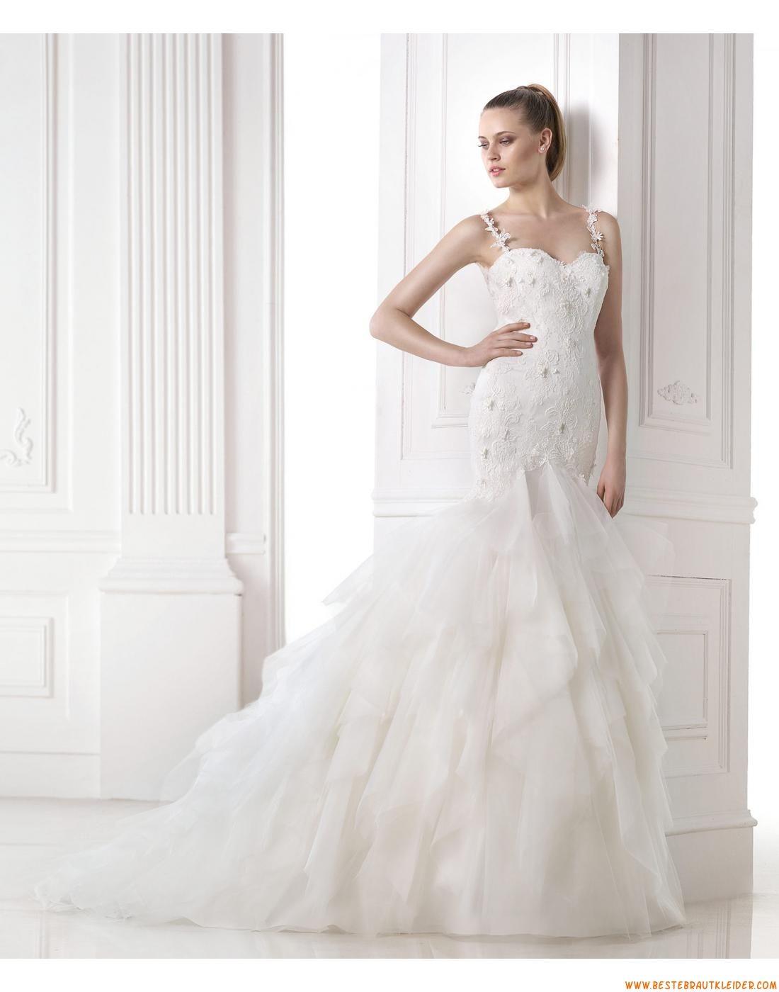 2015 Rückenfreie Moderne Elegante Brautkleider aus Organza mit ...