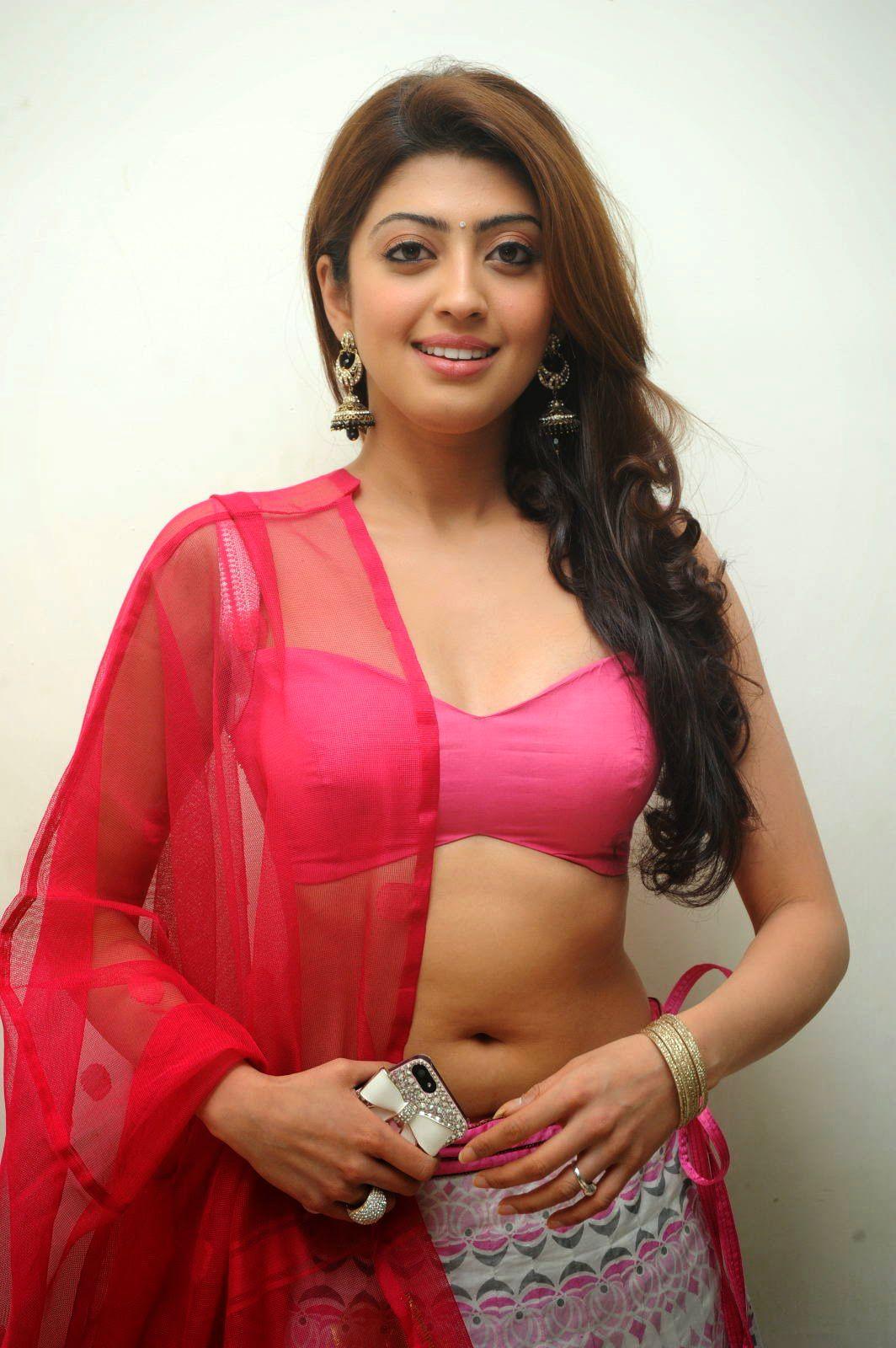 Pranitha Subhash In Pink Hot Lehenga Showing Navel  -4584