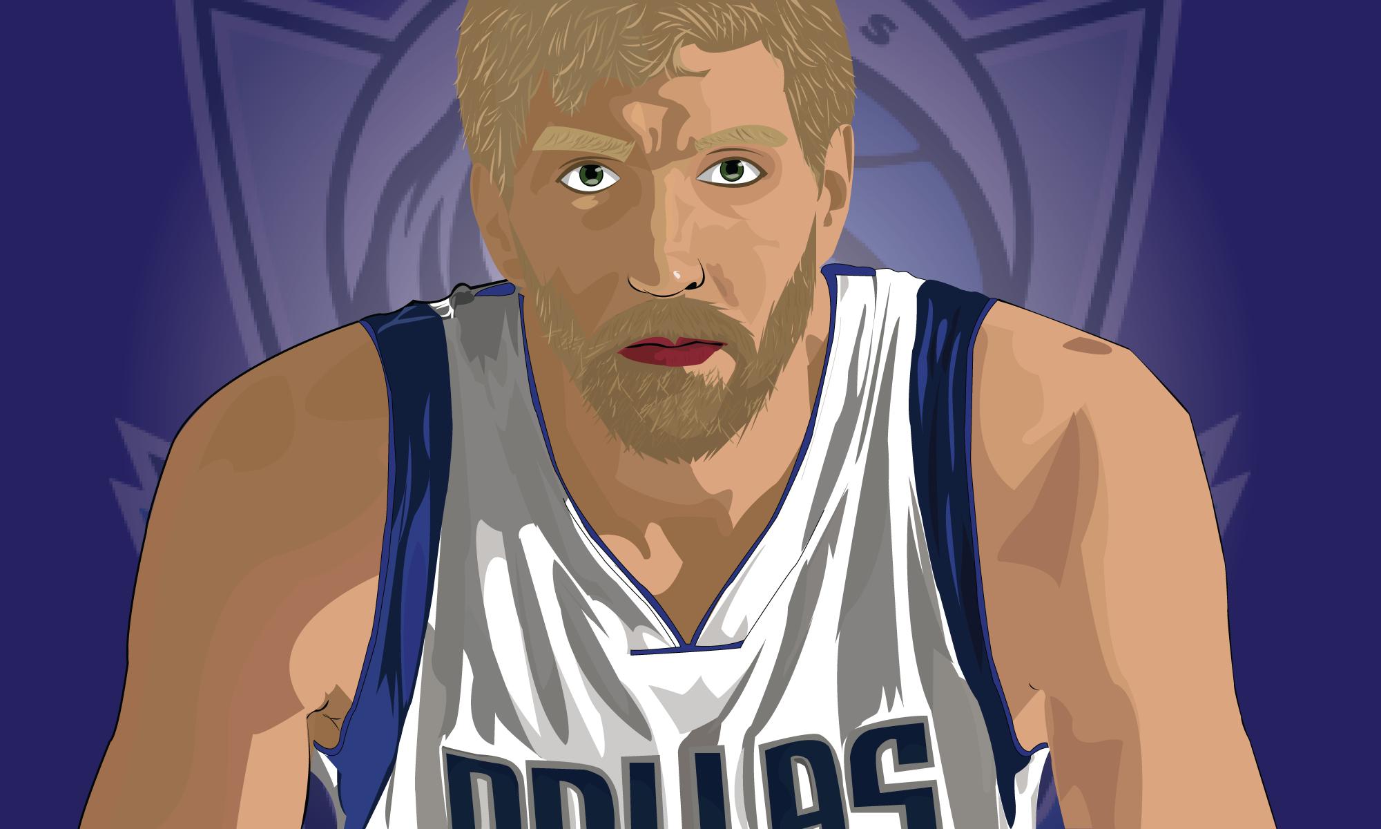 Dirk Nowitzki Vector Dallas Mavericks Art Anime