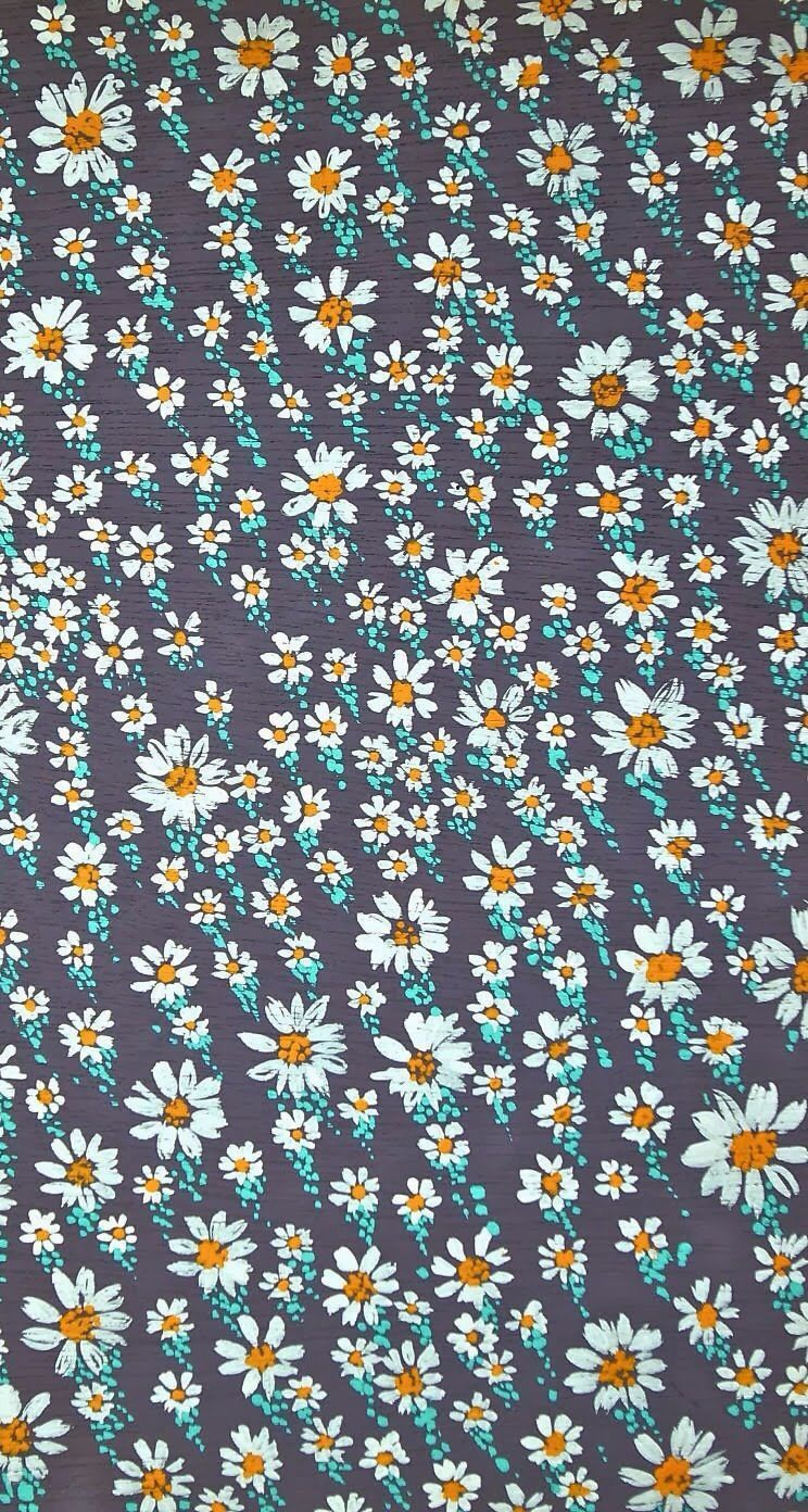Trendy Daisies Pattern Wallpaper Flower Wallpaper