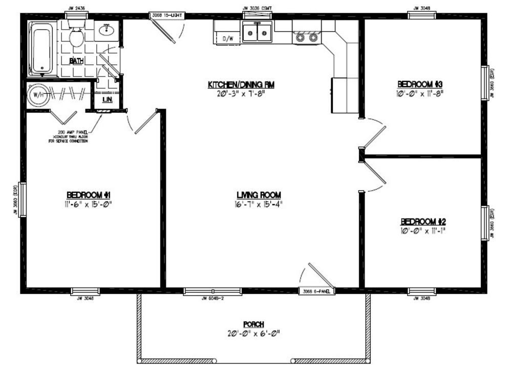 30 x 40 floor plans thefloors co for 2 bedroom house plans 30x40