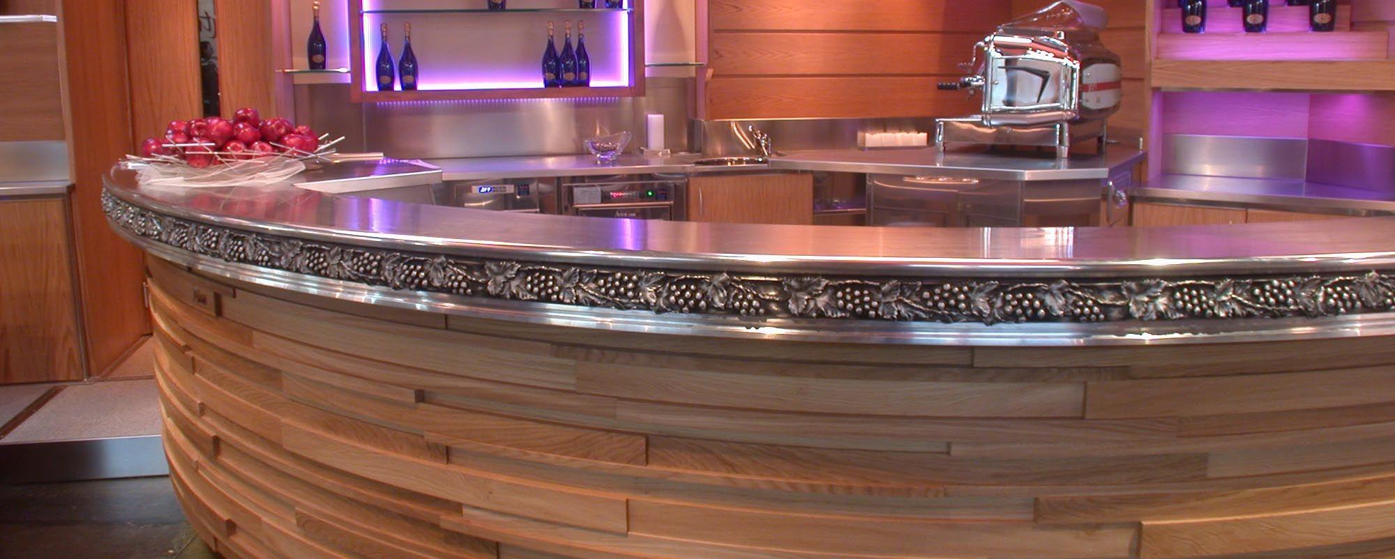 Plan de travail cuisine en zinc great credence en zinc - Plaque de zinc pour cuisine ...