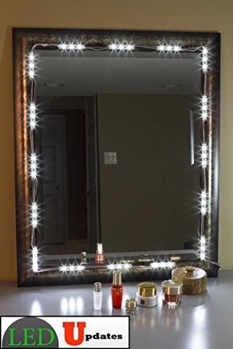 MAKE UP MIRROR LED LIGHT FOR VANITY MIRROR with dimmer and UL power ...