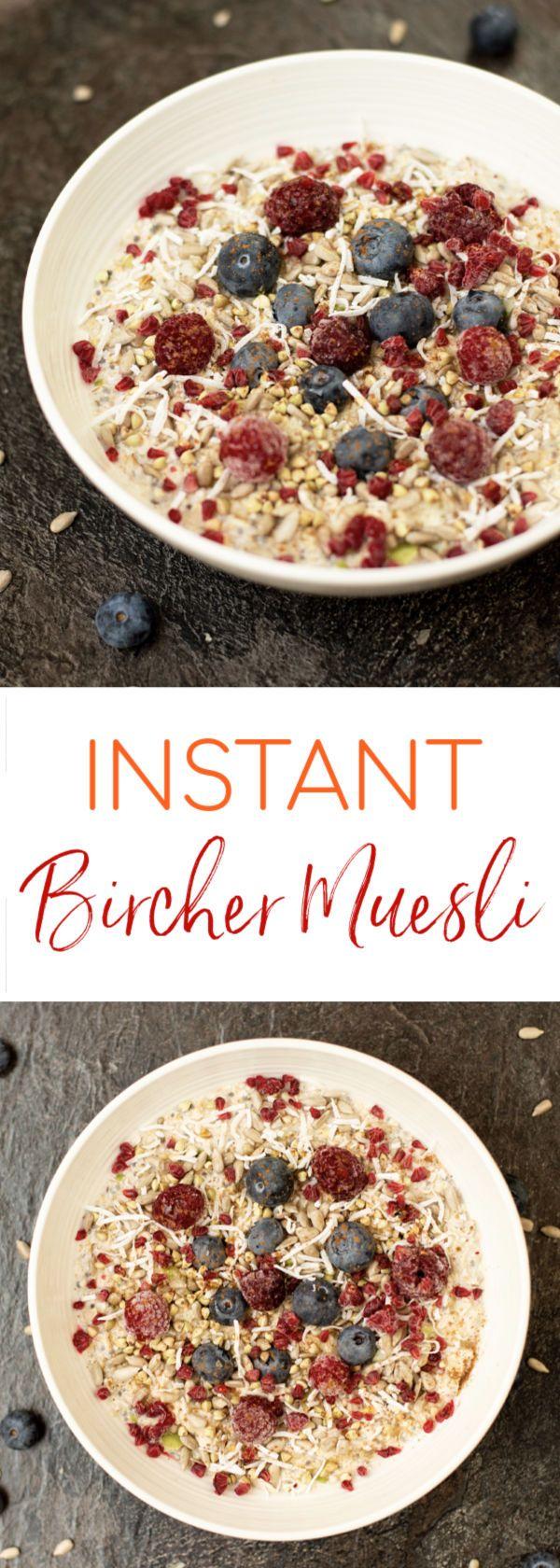 Instant Bircher Muesli | Muesli, Brunch recipes, Bircher ...