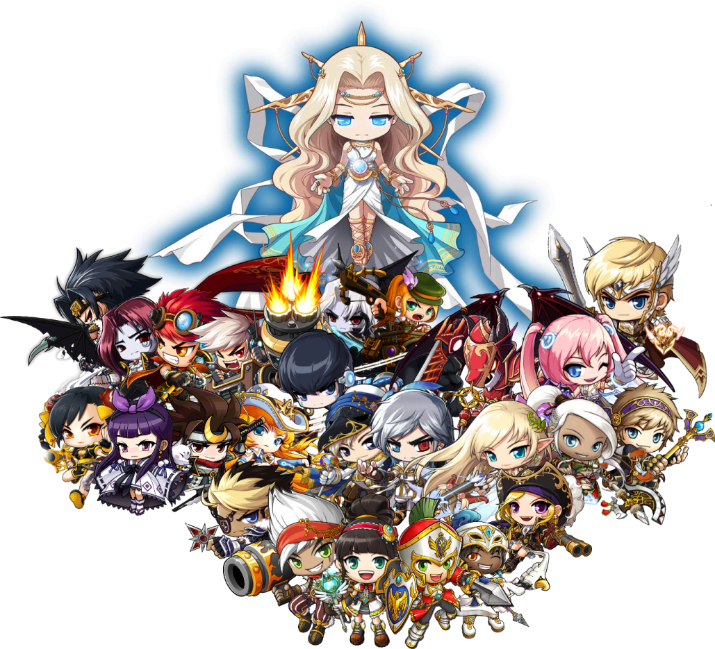Maplestory characters Video Game Stuff Pinterest