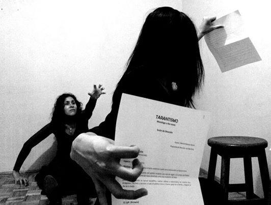 Work in progress. Fotografía  de Leónides Bautista (Director de la obra Tarantismo, Delirio Femenino)