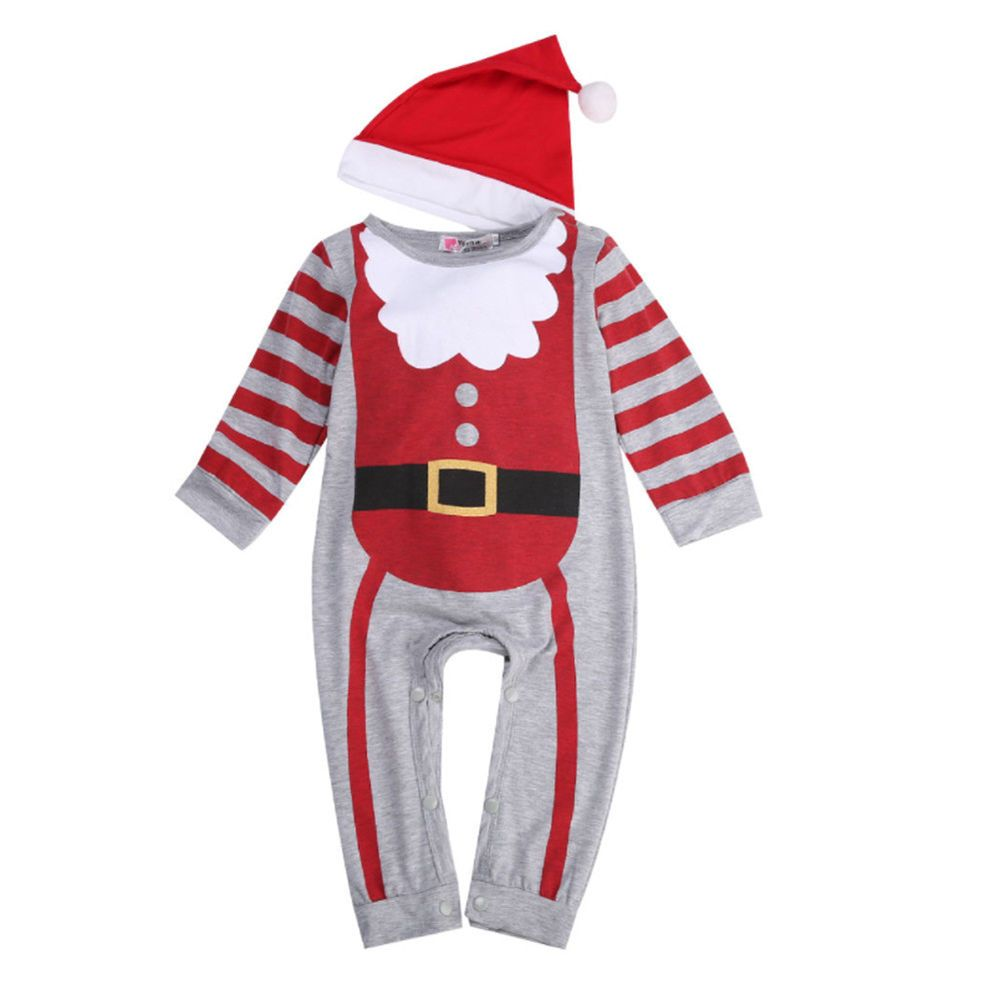 f9cb94638063 Christmas Santa Claus Reindeer Brother Sister Baby Boys Girls Fleece ...
