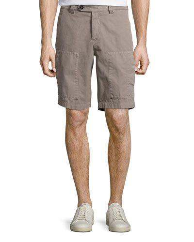 Gabardine Cargo Bermuda Shorts