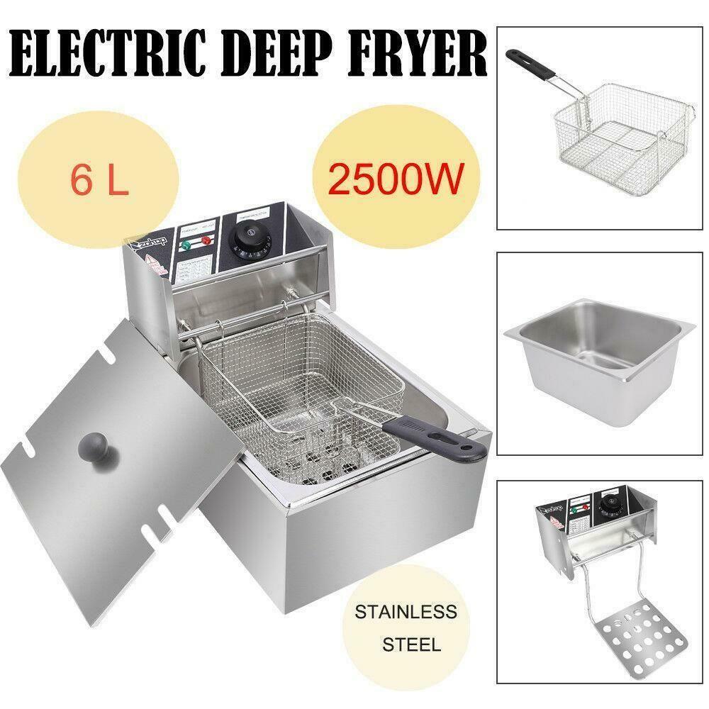 Details about 6.3 QT Commercial Home Electric Deep Fryer