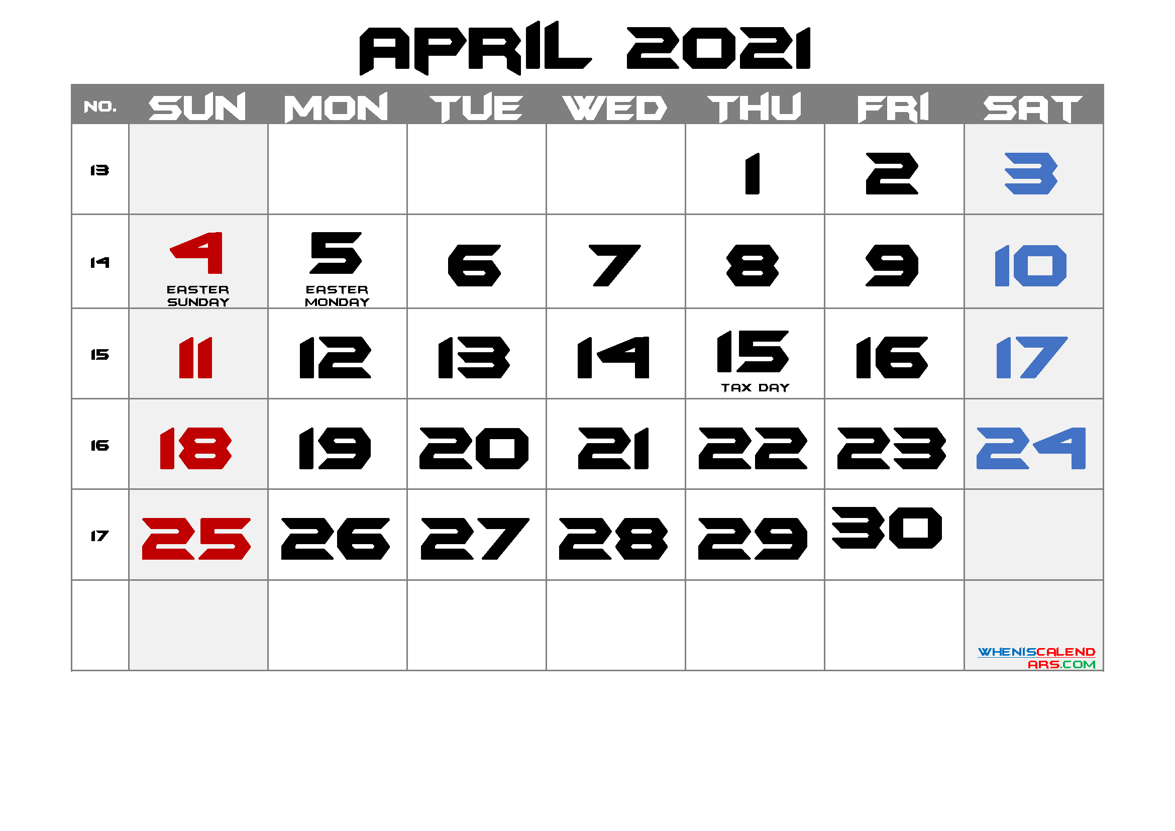 Free Printable April 2021 Calendar In 2020 Calendar Printables 2021 Calendar Printable Calendar July