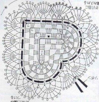 Granny fancy heart crochet chart haakpatronen pinterest crochet heart pattern graph only no pics ccuart Images