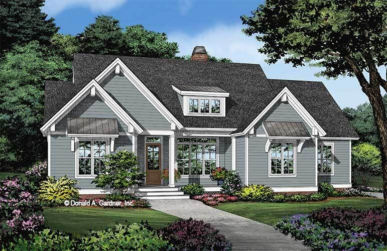 The Gellar Is A Simple Ranch Design With An Efficient Exterior And A Thoughtful Floor Plan In 2020 Cottage Style House Plans Craftsman House Plans Country House Plans