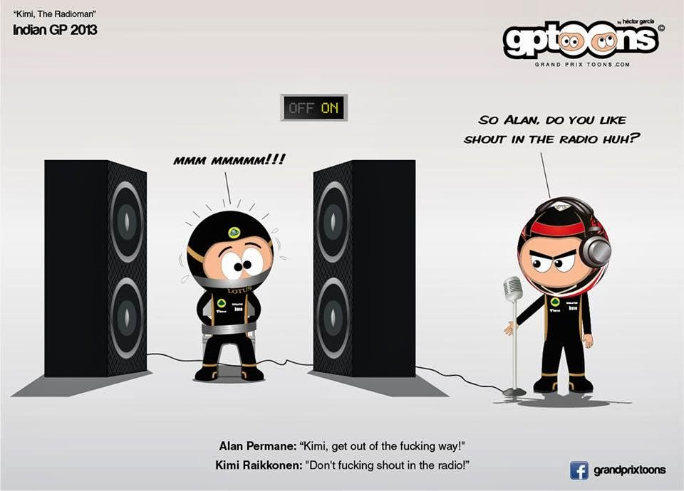 formula one cartoon images | Continental Circus: Formula 1 em Cartoons - Kimi Raikkonen (Grand Prix ...