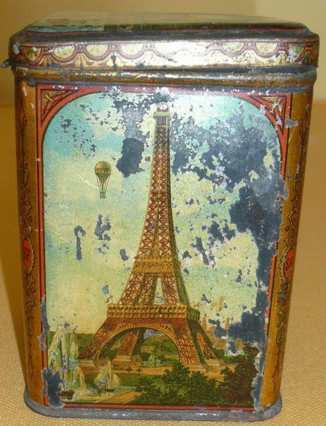 Girard confectionery tin, souvenir of the 1889 Paris World Exposition