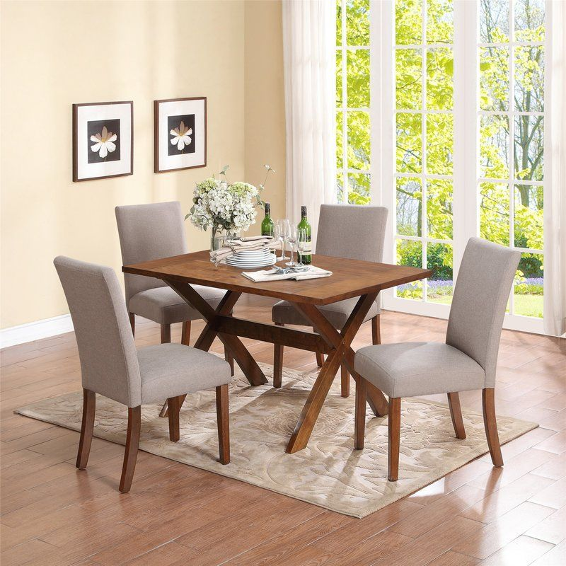 Satchell Parsons Chair 5 Piece Dining Set Table