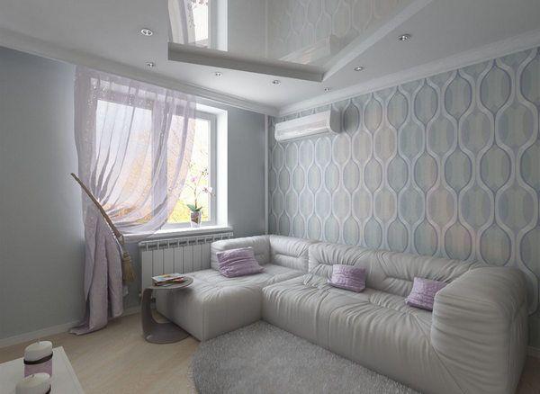Комбинирование обоев в гостиной: идеи фото | Интерьер, Обои для гостиной, Дизайн