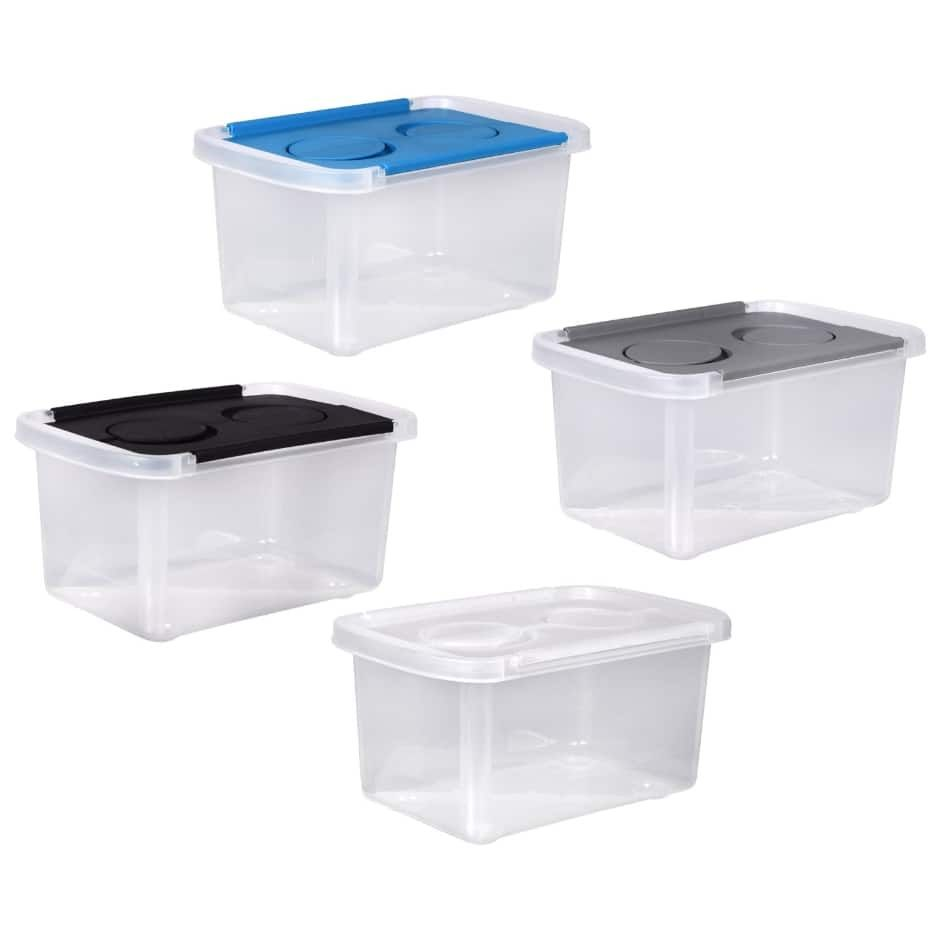Clear Plastic Storage Boxes with SplitHinged Lids, 9x6x4