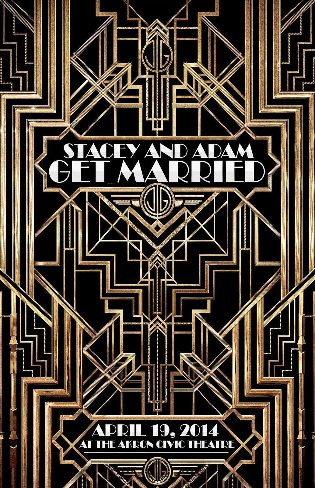 The Great Gatsby Flyer Fully Editable Design Imitating The
