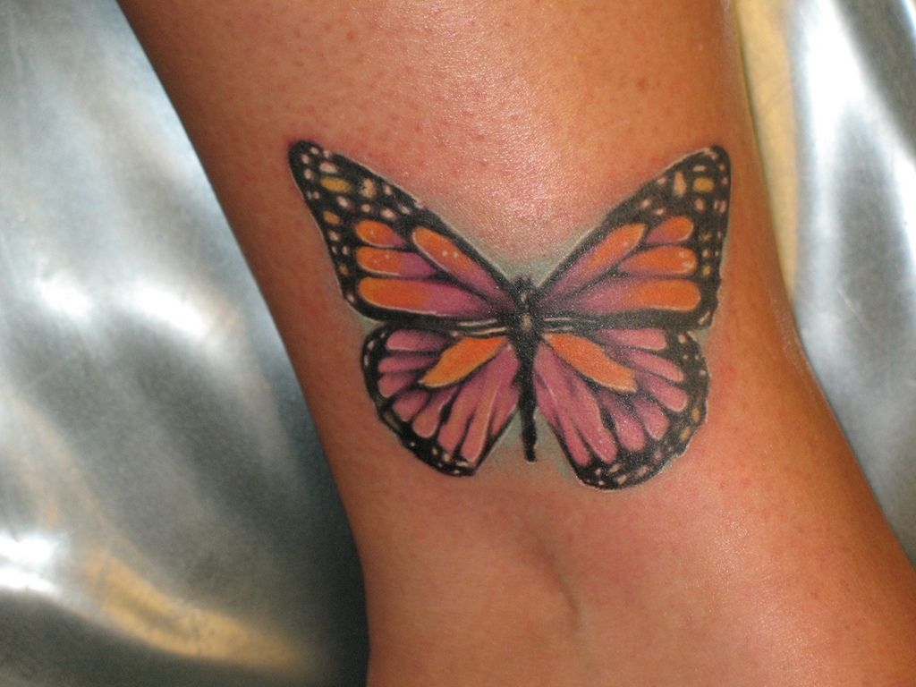 Awe inspiring butterfly tattoo ankle design amazing design