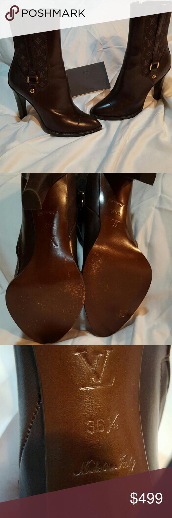 286336bc54df Spotted while shopping on Poshmark  Louis Vuitton Brown Monogram Mini Lin  Canvas Jodie!  poshmark  fashion  shopping  style  Louis Vuitton  Shoes
