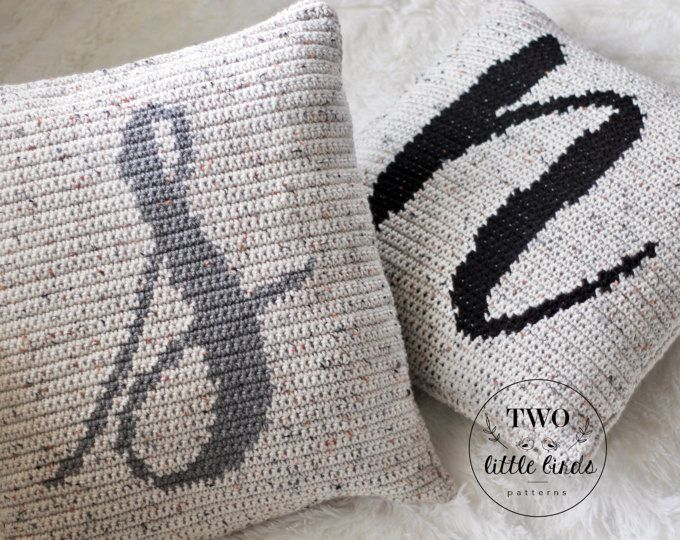 Crochet Pattern Brixton Monogram Pillow Crochet Pillow Pattern Monogram Pillow Crochet Throw P Crochet Pillow Cover Monogram Pillows Crochet Pillow Pattern