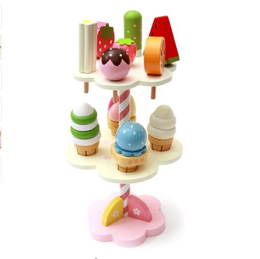 Baby Drei Schicht Eis Baum Simulation Haus Kuche Holz Lebensmittel