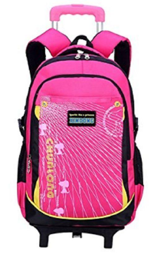 Girls Backpacks Kids Rolling Backpack Child Travel Back Pack Wheels