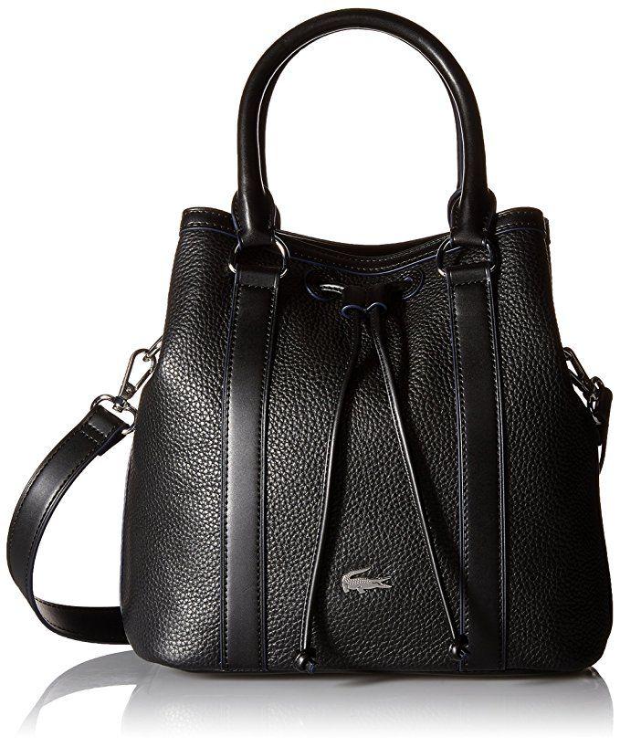 bd6d2edd127 Lacoste Renee Bucket Back, Black | Handbags | Bags, Lacoste, Grab bags
