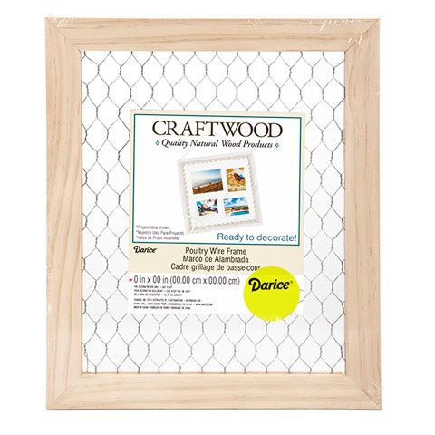 Unfinished Chicken Wire Picture Frame: 9.5 x 11.5 inches | Wire ...