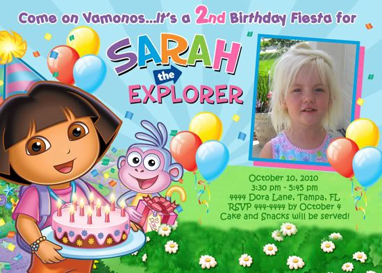 Dora birthday invitations free online projects to try pinterest dora birthday invitations free online filmwisefo Images