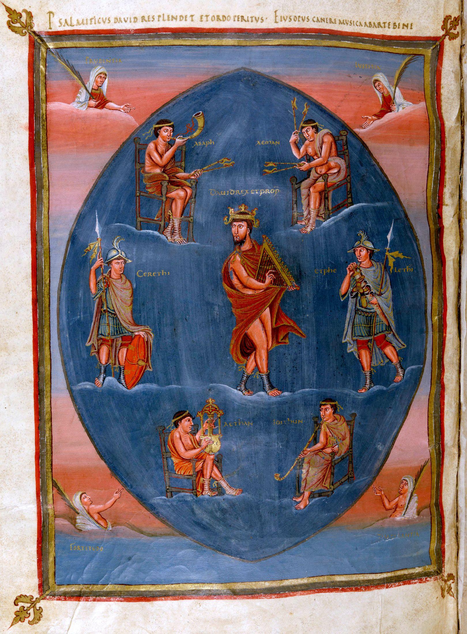 Charles The Bald Bible C 845 A D Bnf Manuscrits Latin 1 Fol 215v Http Gallica Bnf Fr Ark 12148 Btv1b8455903b F438 Art Historique Art Medieval Bnf