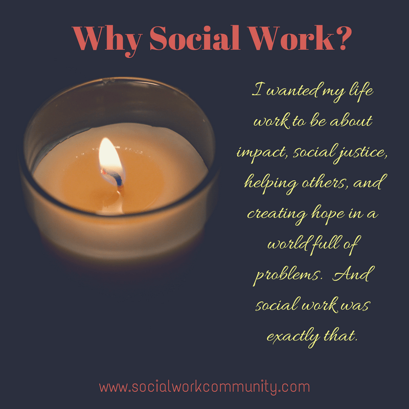 So I've been in social work now for 14 years and my career