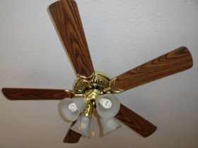 That Awful Gold Easy Ceiling Fan Redo Home Makeover
