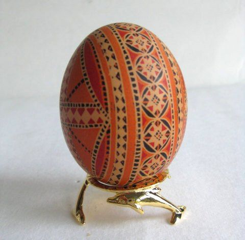 i want to get one of these tattooed on me ;) Pysanka on Brown Egg, Ukrainian Easter egg