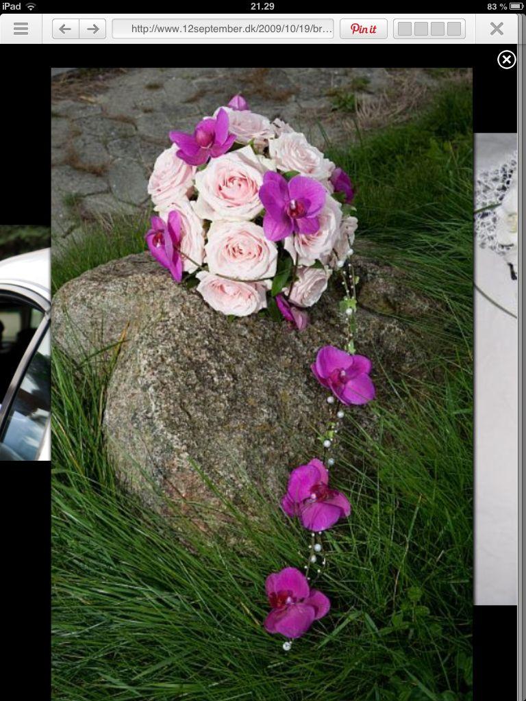 Brudebuket med orkide