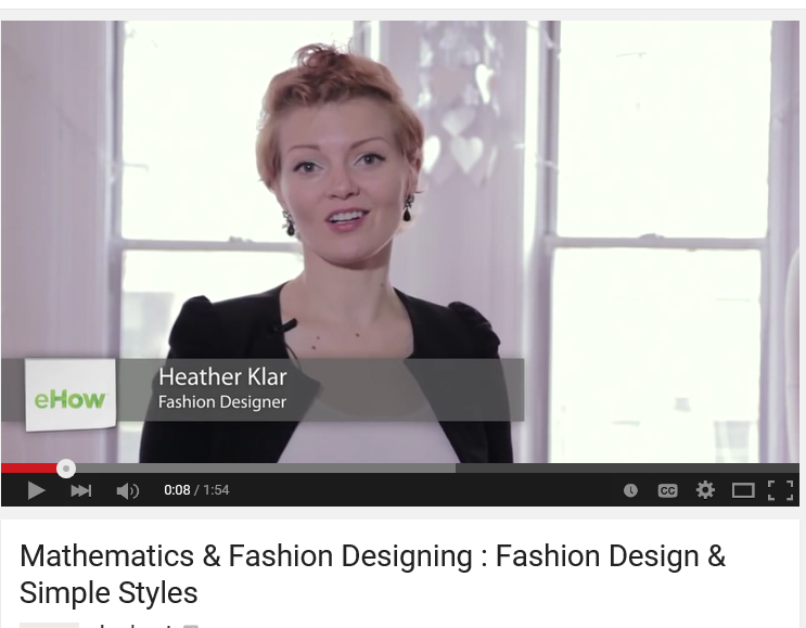 A Video About How Mathematics Is Used By Many Fashion Designers When Creating Clothing Design Fashion Design Simple Designs