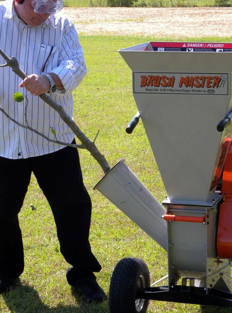 Rent a chipper from The Home Depot to help you clean up