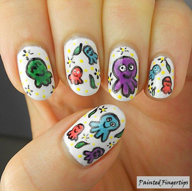 Octopi! 40 Great Nail Art Ideas for Animals | Octopus nails, Nail ...