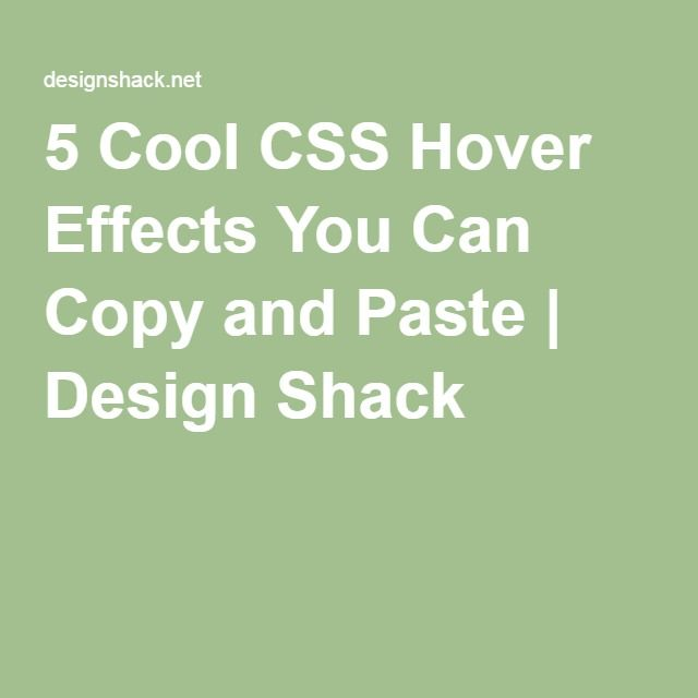 5 Cool CSS Hover Effects You Can Copy and Paste | Teaching Web