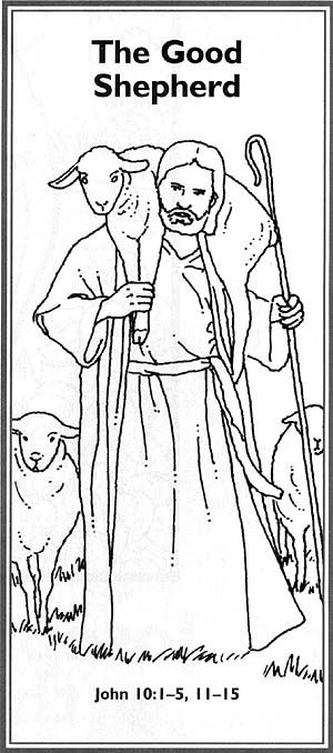 The good shepherd bookmark lds primary pinterest for The lord is my shepherd coloring page