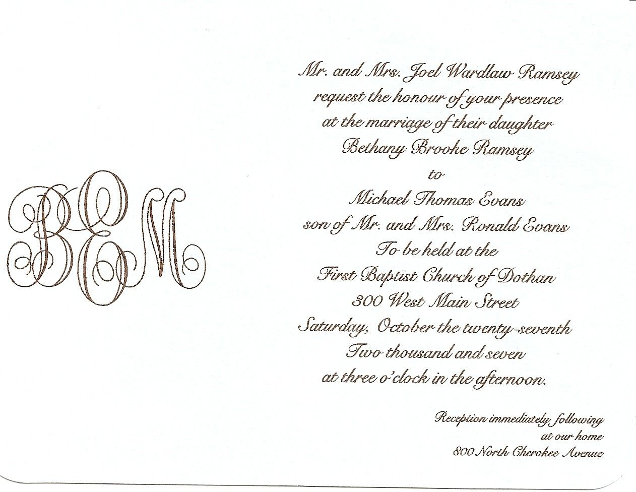 Writing Wedding Invitations How to write wedding
