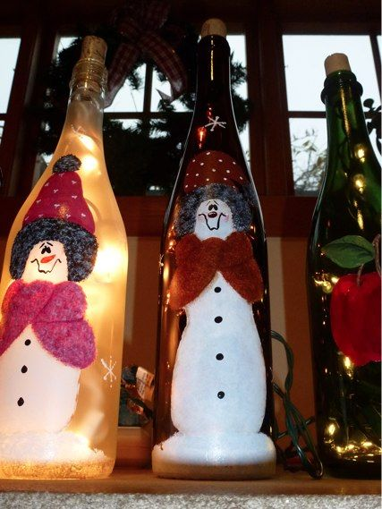 Painted Bottles With Lights Inside Festive Handpainted Wine Amazing Decorated Wine Bottles With Lights Inside