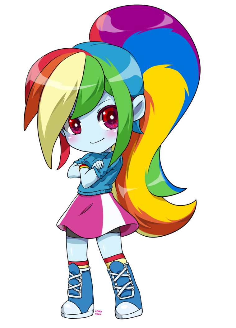 RD chibi Equestria Girls Equestria girls rainbow dash