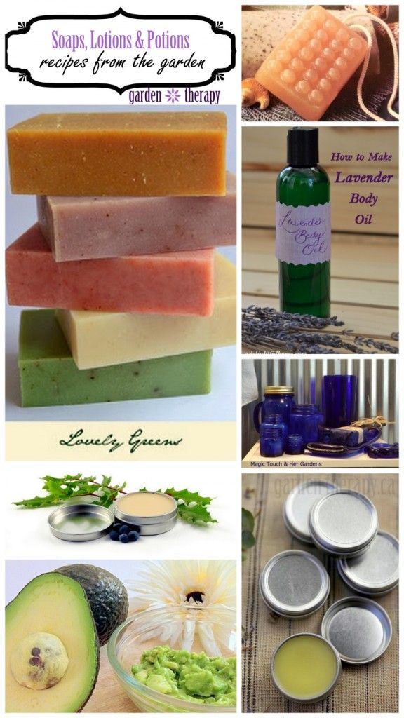 Soaps, Lotions, and Potions from the Garden | Homemade