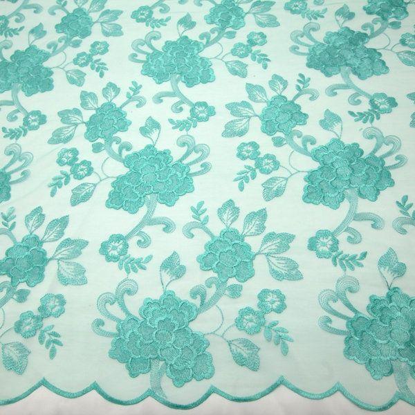 Tecido tule bordado verde água - Maximus Tecidos   Loja Online ... 5893f0a06f